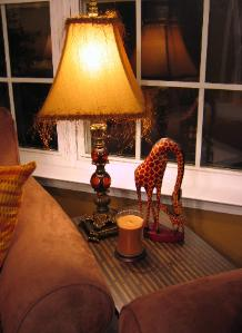 Durham NC accessories, giraffe and lamp